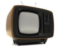 Televisão à moda do vintage Fotografia de Stock Royalty Free