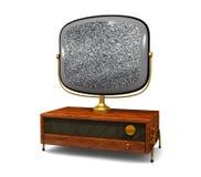 Televisão antiga com estática ilustração stock
