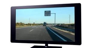 Televisão 3D real Foto de Stock