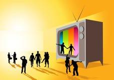 Televisão da realidade Foto de Stock Royalty Free