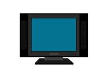 Televisão da tela lisa Foto de Stock Royalty Free