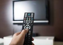 Televisão de controle remoto imagens de stock