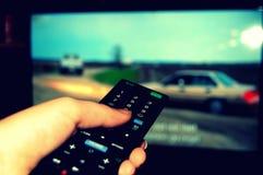 Televisão de observação Fotos de Stock Royalty Free