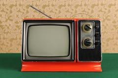 Televisão do vintage Foto de Stock Royalty Free