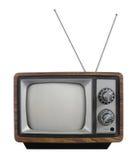 Televisão do vintage de Grunge Imagens de Stock Royalty Free