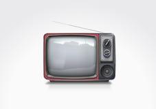 Televisão do vintage do vetor Fotografia de Stock Royalty Free