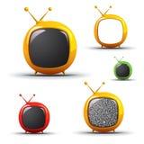 Televisão futurista - vetor do EPS Fotos de Stock Royalty Free