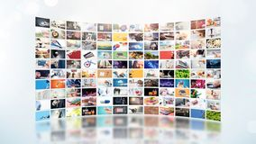 Televisão que flui o vídeo Tevê dos meios por encomenda imagens de stock royalty free