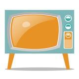 Televisão retro Fotografia de Stock Royalty Free