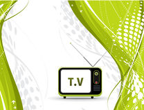 Televisão retro Fotos de Stock Royalty Free