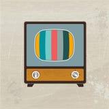 Televisão retro da madeira da forma. Fotografia de Stock