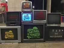 Televisão velha imagem de stock