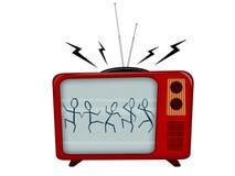 Televisão velha Fotografia de Stock