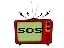 Televisão velha Imagens de Stock Royalty Free