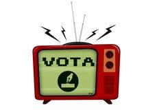 Televisão velha Fotografia de Stock Royalty Free