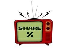 Televisão velha Fotos de Stock Royalty Free