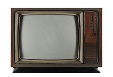 Televisão velha do vintage Fotos de Stock Royalty Free