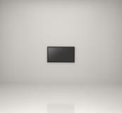 Televisão Widescreen no quarto branco Foto de Stock Royalty Free
