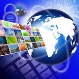 Televisión con concepto de la tecnología de producción de Internet Imágenes de archivo libres de regalías