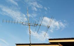 Televisión de la antena Foto de archivo libre de regalías