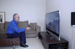 Televisión de observación y el usar del hombre teledirigidos Imagenes de archivo