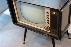 Televisión del análogo del vintage imagen de archivo libre de regalías