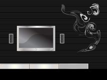 televisión en un cuarto moderno Fotografía de archivo