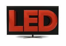 Televisión llevada Imagenes de archivo