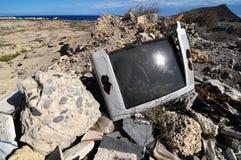Televisión quebrada Imagenes de archivo
