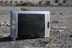 Televisión quebrada Imagen de archivo libre de regalías
