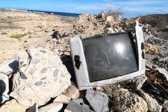 Televisión quebrada Fotos de archivo libres de regalías