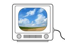 Televisión retra ilustración del vector