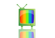 Televisión retra Imagenes de archivo