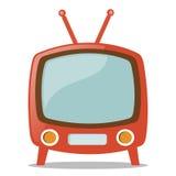 Televisión retra stock de ilustración