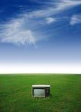 Televisión solitaria Imagenes de archivo