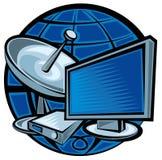 Televisión via satélite Fotografía de archivo