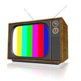 Televisión vieja 3d Fotos de archivo libres de regalías