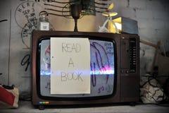 Televisie Art Installation Stock Afbeeldingen