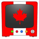Televisie Canada stock illustratie