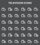 Televisie, de ionenpictogrammen van Applicat, vector Royalty-vrije Stock Afbeelding