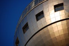Televisie die op Odaiba, Tokyo voortbouwt stock afbeelding
