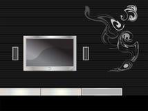 televisie in een moderne ruimte Stock Fotografie