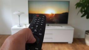 Televisie en afstandsbediening Royalty-vrije Stock Fotografie