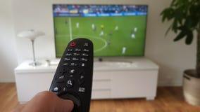 Televisie en afstandsbediening Royalty-vrije Stock Afbeelding