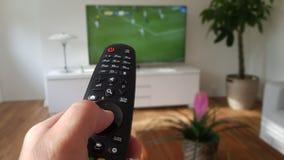 Televisie en afstandsbediening Stock Fotografie