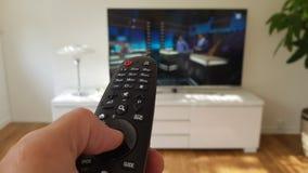 Televisie en afstandsbediening Stock Afbeeldingen