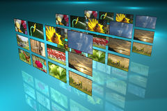 Televisie en de reclame Royalty-vrije Stock Foto's