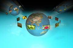 Televisie en de reclame stock illustratie
