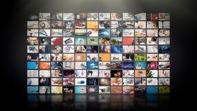 Televisie het stromen video Media TV op bestelling stock fotografie