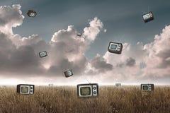 Televisie het vallen Stock Afbeeldingen